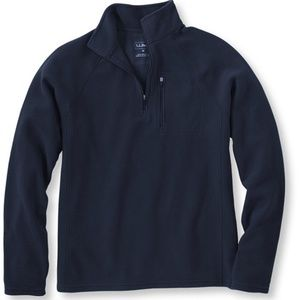 LL Bean Fitness Fleece Quarter Zip Pullover